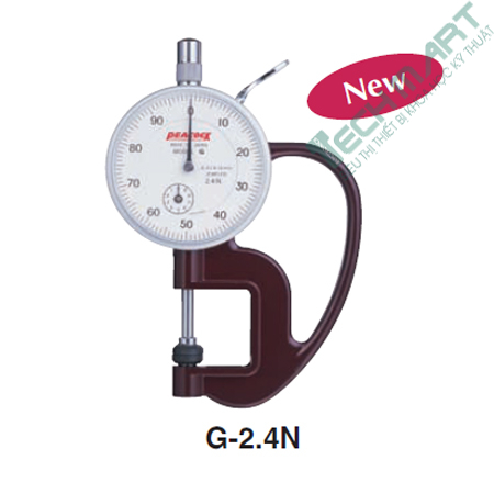 dong ho do do day peacock g 2 4n 0 10mm - Đồng hồ đo độ dày Peacock G-2.4N (0-10mm)