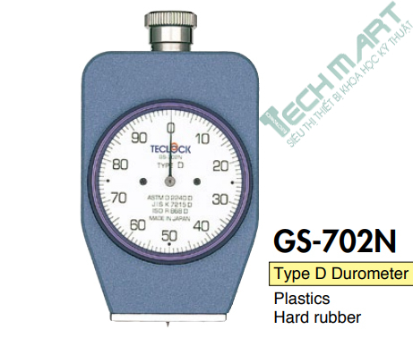 may do do cung cao su teclock gs 702n type d 0 44483mn - Máy đo độ cứng cao su Teclock GS-702N Type D (0-44483mN)
