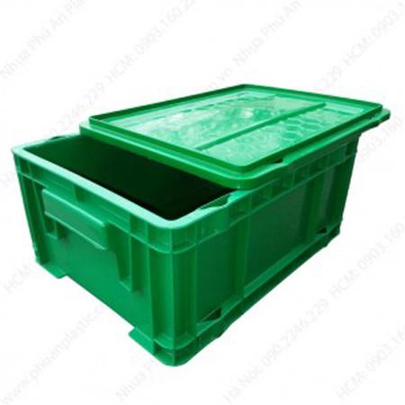 Thùng nhựa công nghiệp có nắp 502