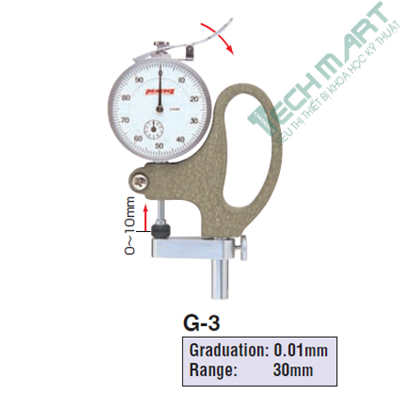 Thước đo độ dày Peacock G-3 (0-30mm)