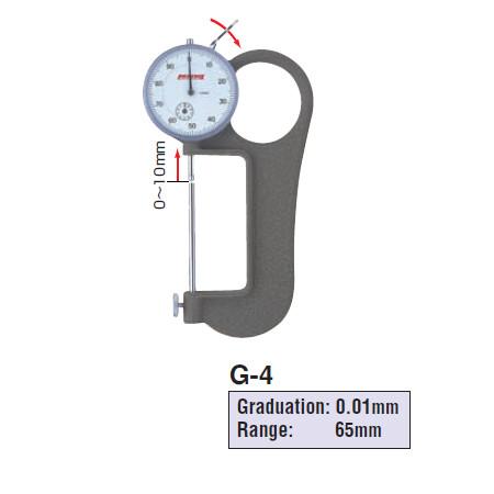 Thước đo độ dày Peacock G-4 (0-65mm)