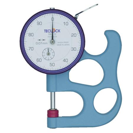 dong ho do do day teclock sm 112 010mm 0 01mm - Đồng hồ đo độ dày Teclock SM-112 (0~10mm/0.01mm)
