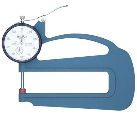 dong ho do do day teclock sm 114 010mm 0 01mm - Đồng hồ đo độ dày Teclock SM-114 (0~10mm/0.01mm)