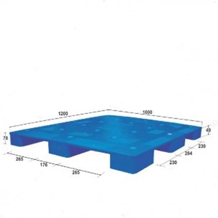 Pallet nhựa công nghiệp PL02LS màu xanh