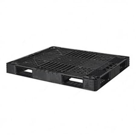 pallet nhua cong nghiep pl130 mau den - Pallet nhựa công nghiệp PL130 màu đen