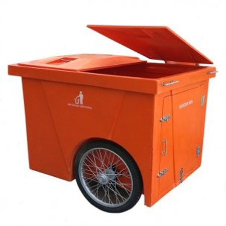 thung rac nhua composite co banh xe 1000 lit - Thùng rác nhựa composite có bánh xe 1000 lít