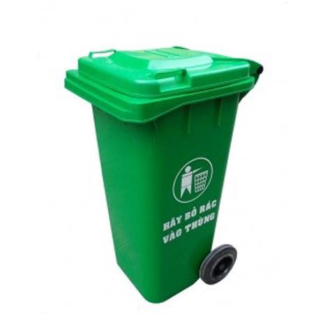 Thùng rác nhựa công nghiệp có bánh xe 120 lít