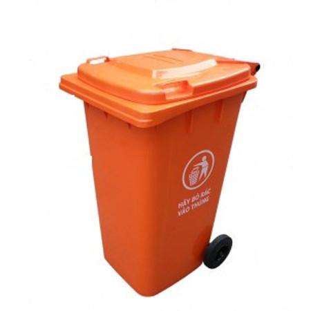 Thùng rác nhựa công nghiệp có bánh xe 240 lít