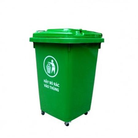 Thùng rác nhựa công nghiệp có bánh xe 60 lít