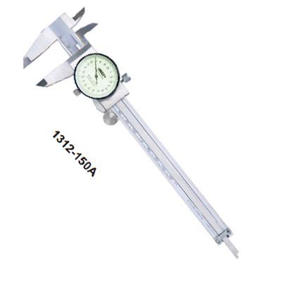 thuoc cap dong ho insize 1312 150a 0 150mm 0 02mm - Thước cặp đồng hồ Insize 1312-150A (0-150mm/0.02mm)