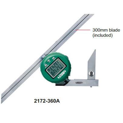 Thước đo góc Insize 2172-360A (0-360 độ)