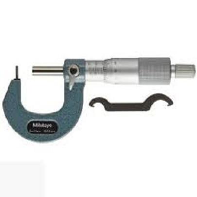 Panme đo ngoài cơ khí đo chiều dày thành ống Mitutoyo 115-308 (0-25mm/ 0.01mm)