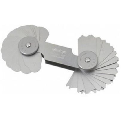 Bộ dưỡng đo bán kính Mitutoyo 186-107 (15.5-25mm/ 30 lá)