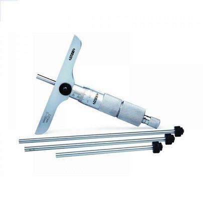 Panme đo độ sâu cơ khí INSIZE 3241-75 (0-75mm; Chiều dài đế: 101.5mm)