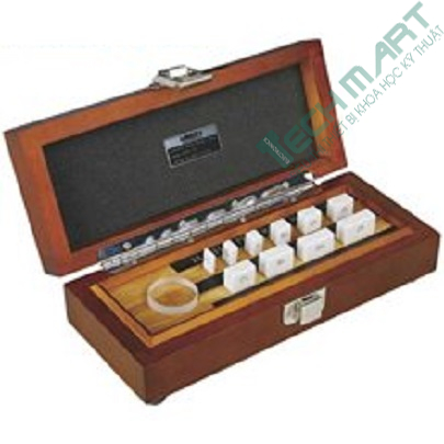 Bộ căn mẫu 10 chi tiết Insize 4107-10 (ceramic,kiểm tra thước panme, grade 0,optical parallel)